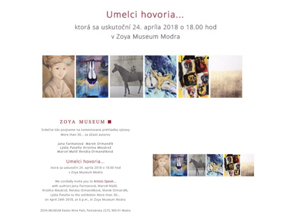 ZOYA Museum Modra – Artists speak…