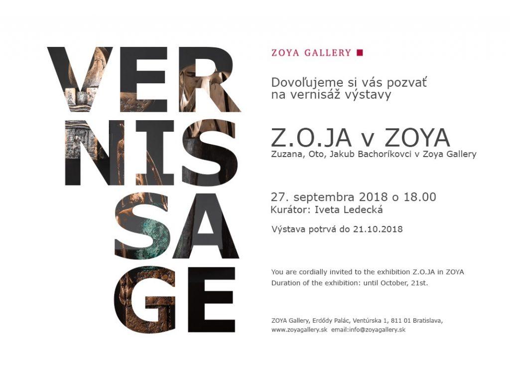 Z.O.JA v ZOYA Gallery Bratislava