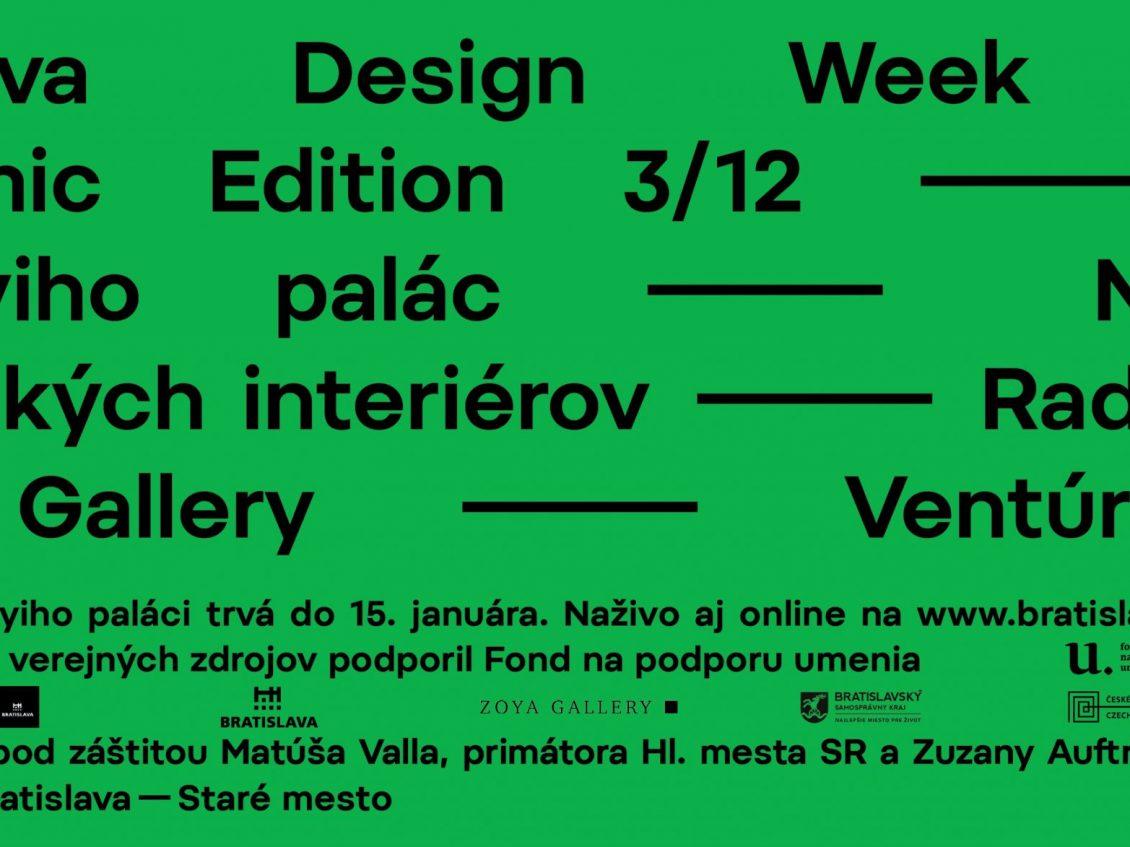 Bratislava Design Week 2020 / Pandemic edition